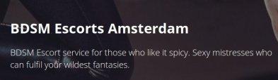 Amsterdam Eskorte Byrå | BDSM  Escorts Amsterdam